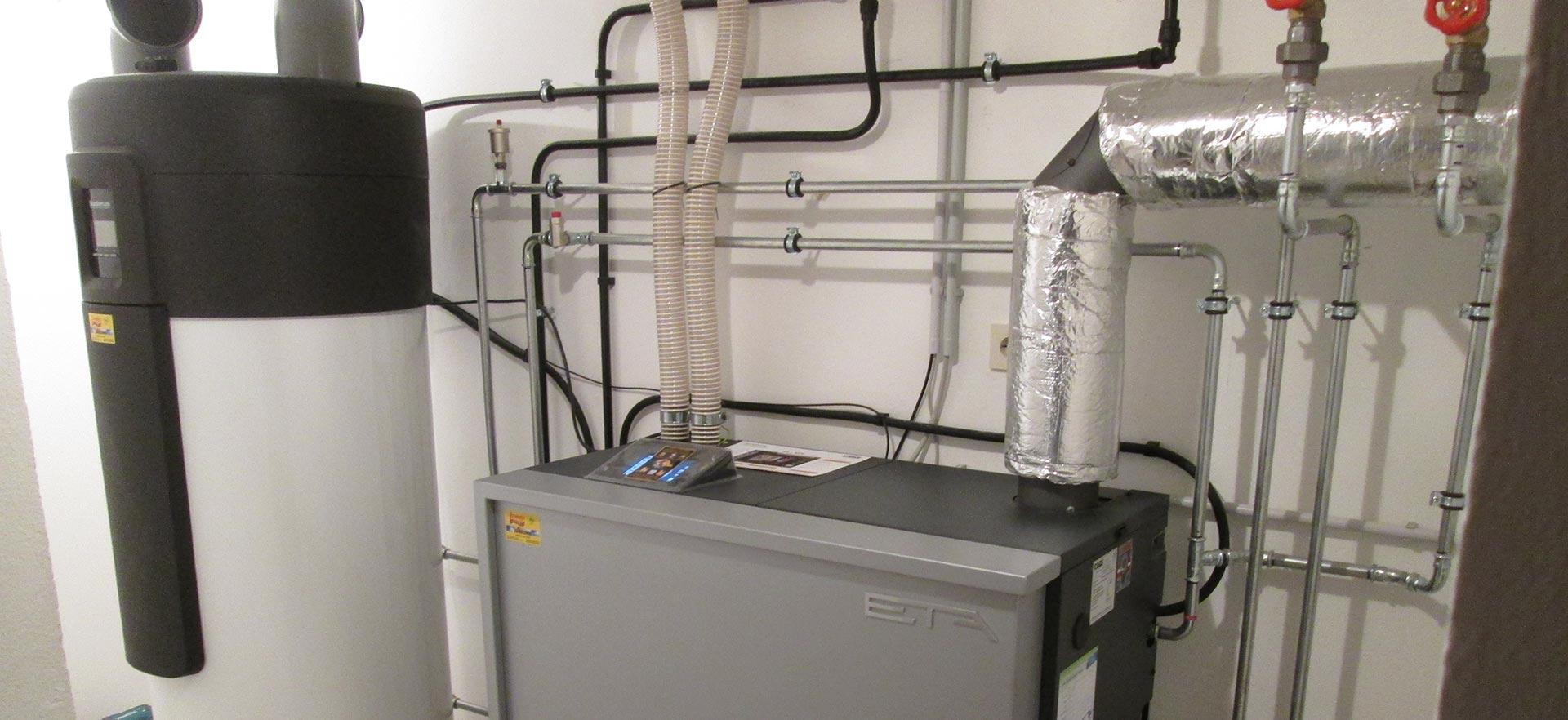 ETA PU Pelletsheizung mit 15 kW u. Brauchwasserwärmepumpe! [Familie Prinesdoma, Pfaffstetten]
