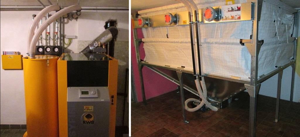 KWB Easyfire EF2 22 kW Pelletsheizungsanlage Sauganlage zum Gewebetank, bestehende Solaranlage und Solarspeicher für die Warmwasserbereitung und einem Edelstahlkamin Fabr. Stocker wurde durchgeführt! [Frau Berger, Tulln]