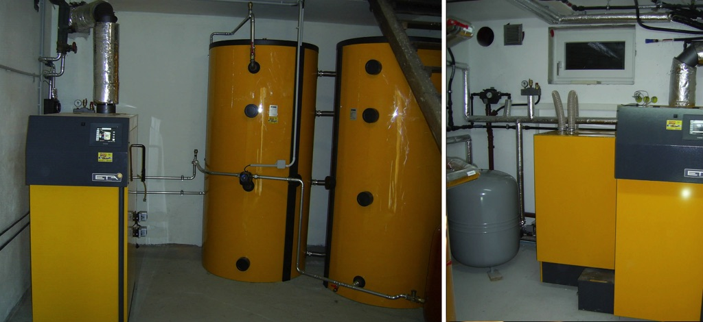ETA SH Holzvergaseranlage mit 2x 850 Liter Pufferspeicher zur Warmwasserbereitung [ Fam. Wunderer, Ebersbrunn]
